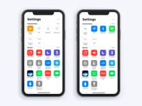 iPhone Setting page concept