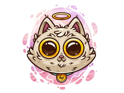 Fuji 2003-2020 pet memory character design flatdesign digital art cats cat design drawing art vector illustrator cute illustration
