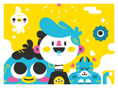 Milestone flat illustration flatdesign milestones monster cat digital art drawing character design art vector character design illustrator cute illustration