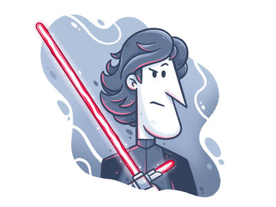 May the 4th be with you! character design maythe4thbewithyou cartoon character art digital art character star wars kylo kylo ren kyloren starwars drawing illustrator cute illustration