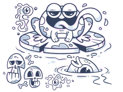 Sketchbook skull skulls fish frog process sketches design character art digital art cartoon drawing character design character illustrator cute illustration