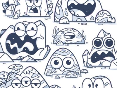Sketchbook faces concepts process sketch fun rocks expressive expression character art character design digital art drawing character design illustrator cute illustration