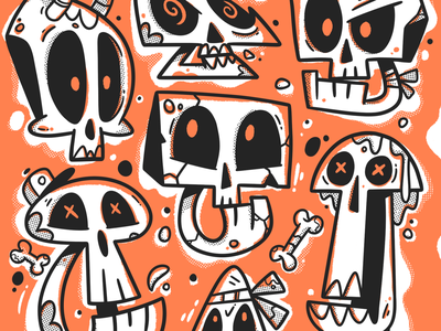 Skulls textures jaw animation handmade apparel bones skull skull art skull and crossbones skulls hand drawn icon character art illustrator design character art drawing cute illustration
