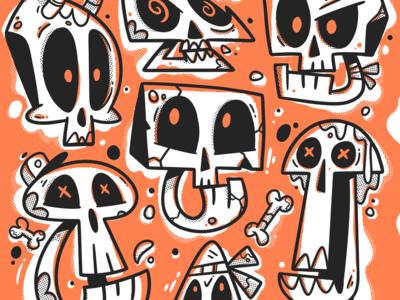 Skulls textures jaw animation handmade apparel bones skull skull art skull and crossbones skulls hand drawn icon character art illustrator design character art drawing cute illustration
