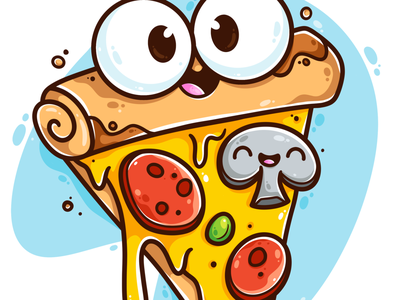 Pizza monday motivation pizza logo food illustration food colourful faces cheese toppings art drawing fun cute art pizza digital art vector character design character illustrator cute illustration