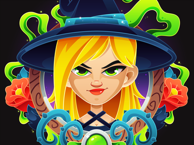 Witchy Witch adobe illustrator 2d art witchcraft vector art vector illustration magic witchy halloween design halloween witch dribbbleweeklywarmup digital art drawing art character design vector character design illustrator illustration
