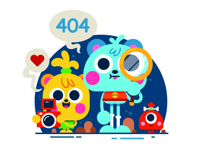 Oops! Page not found. design 404 error page drawing digital art vector illustrator character art character design cute illustration