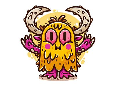 Furry hugs. design creature art halloween monster drawing character design vector illustrator character cute illustration