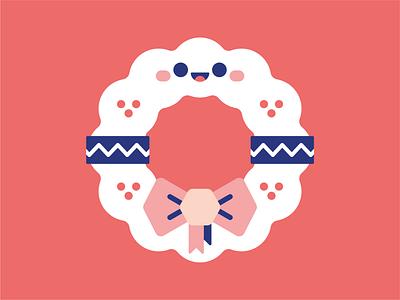 Mistletoe. festive xmas christmas iconset icon logo vector character design mistletoe illustrator cute illustration