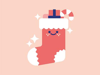 Christmas Stocking. logo character vector icons set icon festive xmas christmas stocking design illustrator cute illustration