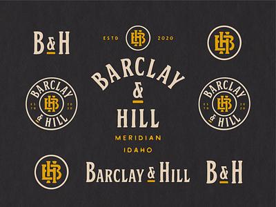 Barclay & Hill lettering logo design badge branding logo hand lettering vintage typography hand drawn