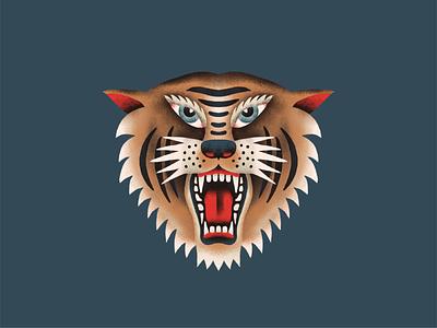 Tiger logo tiger illustration hand drawn