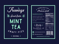 Trussings Mint Tea Label