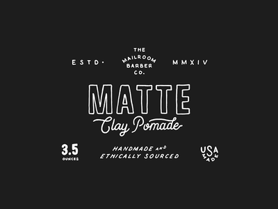 Clay Pomade Label