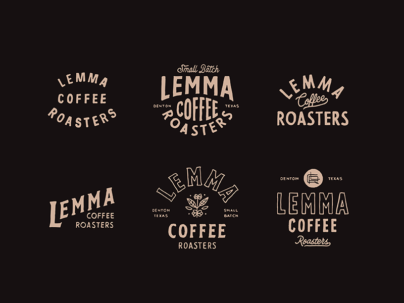 Lemma Coffee Roasters coffee vintage badge hand drawn typography logo branding