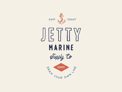 Jetty SS19 hand drawn badge branding anchor vintage illustration typography lettering