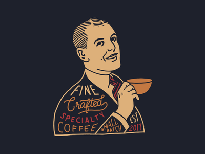 Lemma Coffee Roasters vintage hand drawn coffee typography hand lettering illustration