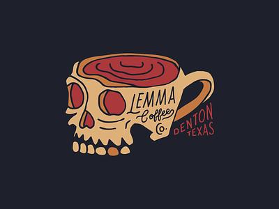 Skull mug vintage hand drawn hand lettering typography illustration skull coffee