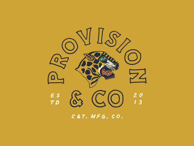 P&Co vintage hand drawn type lettering tattoo illustration tiger