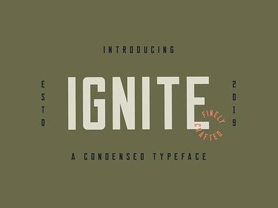 Ignite (Free Font) retro free vintage badge branding hand lettering font typography hand drawn