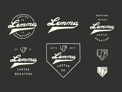 Lemma Coffee Roasters logo hand lettering badge vintage branding hand drawn