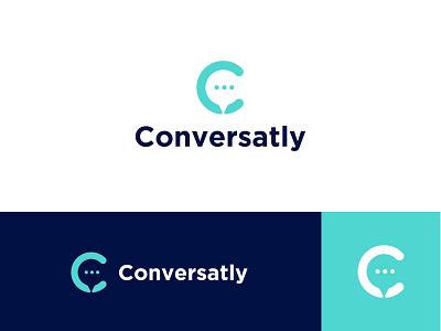 Conversatly - Logo Design - 2nd concept branding illustrator mnimalist logomark minimal design logo logo design flat minimalist icon