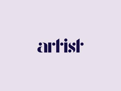Artist typography logo