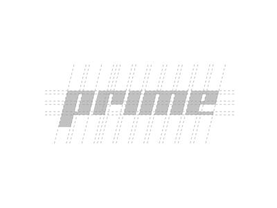 Prime Logo Type Construction