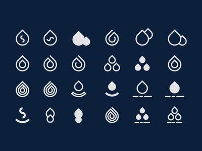 water drop logo exploration