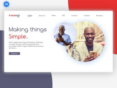 Airtel Tigo Website Redesign.