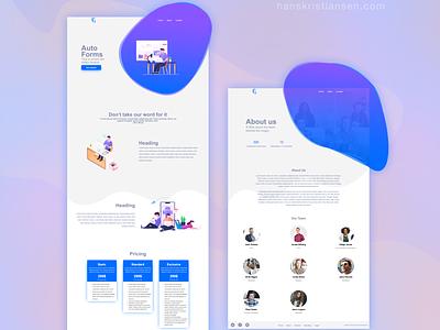 Motion Theme graphicdesign graphic design freelancer purple blue webflow landing page landingpage business ux developer website design website web design webdesign clean ui branding illustration design
