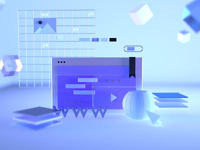 Web illustrations in C4D Octane cinema4d octane c4d website brand design web design illustration branding interactive design inteface design