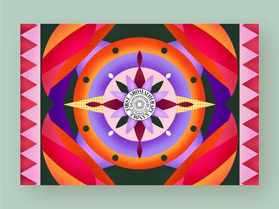 Procreate pattern drawing pattern icon logo vector illustration branding design procreate