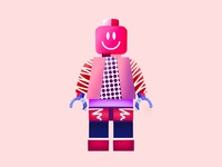 Procreate lego illustration patterns texture simple procreate vector brand design ui illustration inteface design