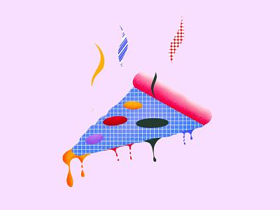 Pizza ? icon pizza vector sketch procreate brand design illustration design