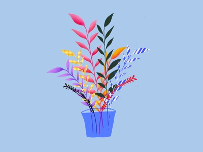 Plants in procreate !! vector procreate illustration brand design branding design