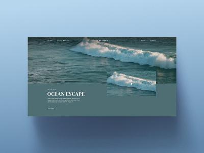 Interactive website — Webflow ocean website webflow web design ui interactive design inteface design