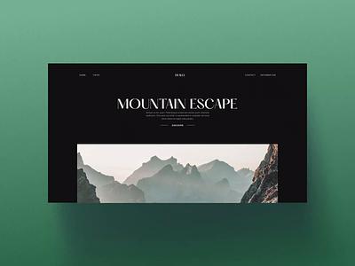 Interactive showcase website — Webflow interaction design website design site travel mountain photography website branding webflow web design design