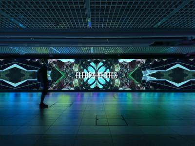 Interactive wall Fleurs Vertes