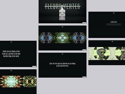 Fleurs Vertes webflow design ui inteface branding illustration brand design web design interactive design interactive
