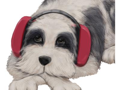 Doggie humour character design photoshop illustration
