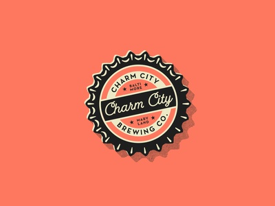 Crack Open a Cold One half tone baltimore illustration badge vector halftones beer branding beer halftone texture design branding logo