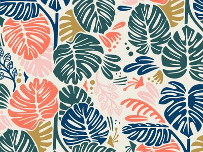 Aloha surf island design vector texture typography beach illustration illustrator tropical leaves pattern tropical