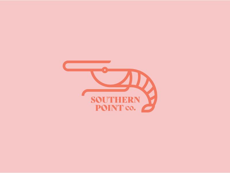 Shrimp Illustration logo design illustrator graphic design graphic flat design clean brand animal beach typography branding logo icon illustration vector florida southern crawfish shrimp