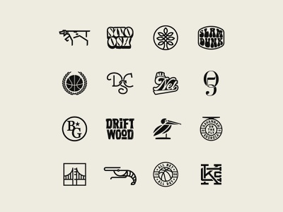 Collection of Creations icon set logo design logotype logos design vector branding logo iconography icon