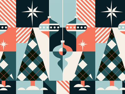 2020 Christmas Card texture design illustration vector flat color block winter snow ornament plaid geometric art geometric pattern design patterns merry christmas holidays christmas pattern