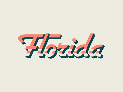 Florida Typography custom logo custom design custom typeface custom type florida logo flat clean design illustration vector type typographic typography logo typeface typography art typography
