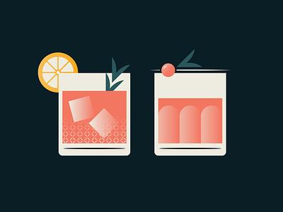Pinkies Up procreate illustrations illustration art illustrator gradient design gradient color gradient logo gradients cocktail drinks texture gradient illustration