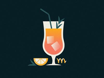 I'll Take Two gradient color gradient logo gradients gradient design flat clean shapes simple vector illustration tropical gradient drinks grain texture drink rebound