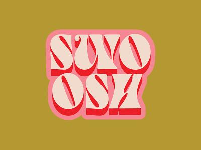 Swoosh lettering typography sticker badge logo sixties bold badge slam dunk retro hippy hippie groovy basketball